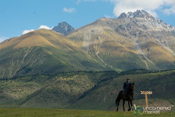 On Horseback at the Kyrchyn Jailoo - World Nomad Games, Kyrgyzstan