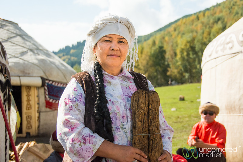 Kyrgyz Woman - World Nomad Games, Kyrgyzstan