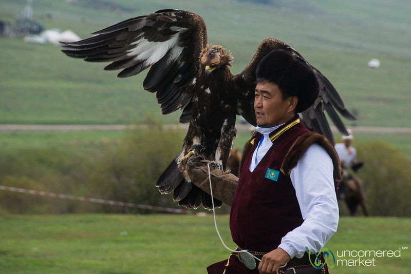Kazakh Man and his Golden Eagle - World Nomad Games 2016
