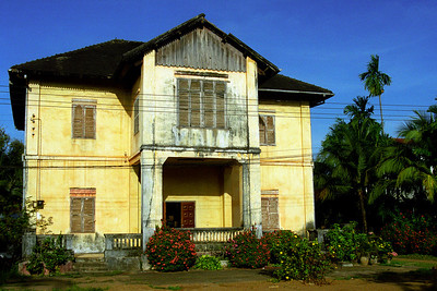 Typical old house in Pakse...