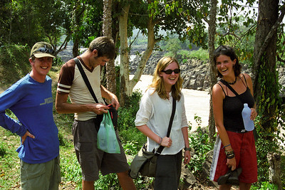 Jim, Quintus, Becky and Janine...we hung out for a week here...