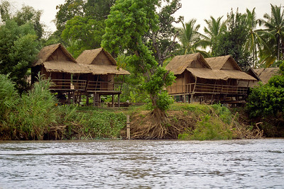 One of my first stops in Laos, Don Det...a little island in the Mekong and bungalows for a dollar a night!