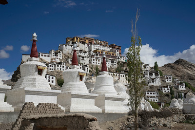 Thikset monastery from down below