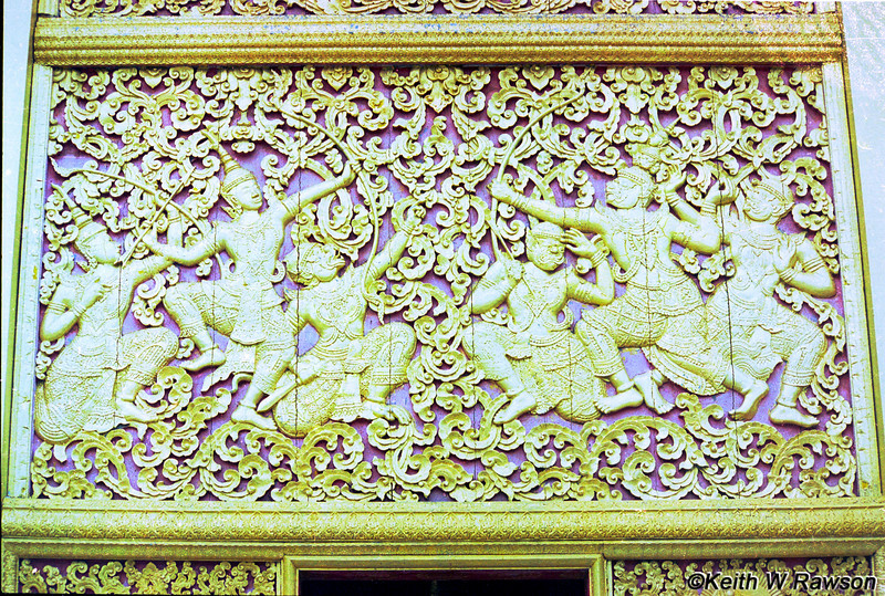 Gold-plated wooden panels at Wat Xieng Thong. The Lao have excelled at wood carving for centuries.