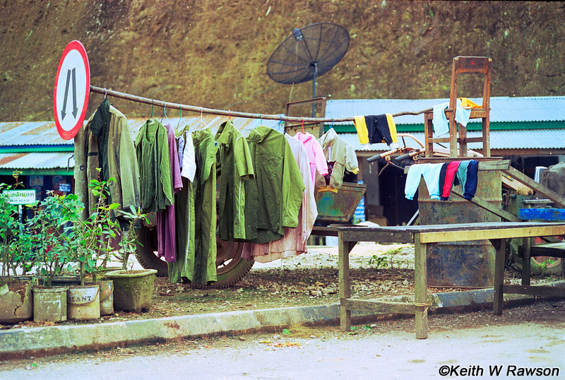 Clothes stall.