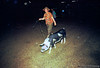 There's nothing like taking your pig for a late night walk.
