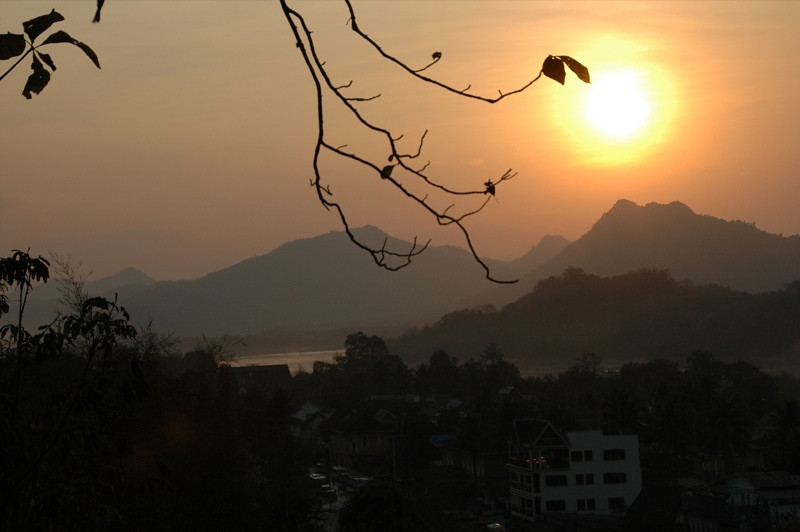 Sunset over Mekong River - Luang Prabang, Laos