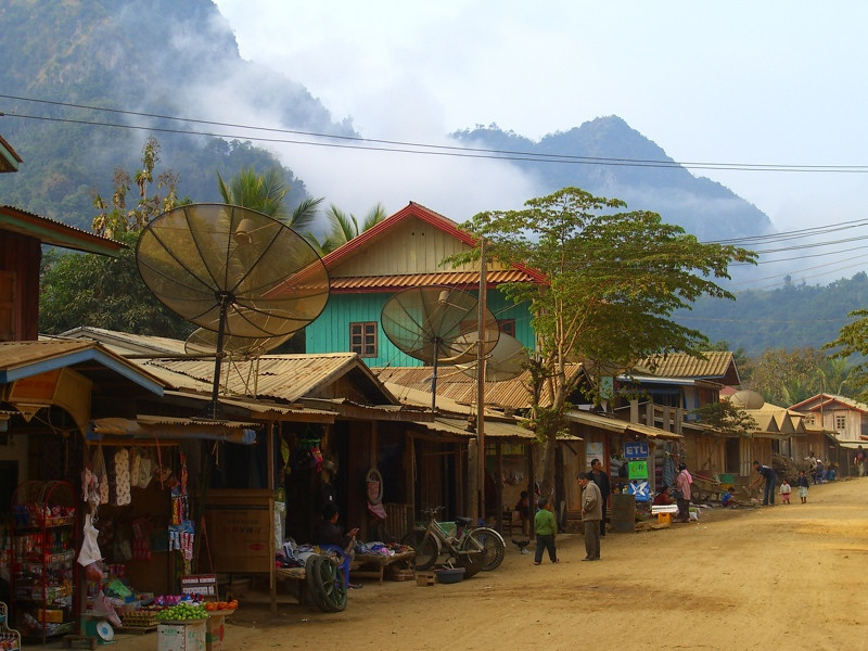 Main Street - Nong Khiaw, Laos