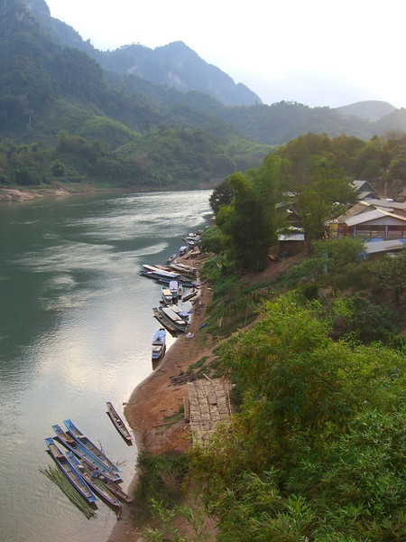 Boats at the Dock - Nong Khiaw, Laos