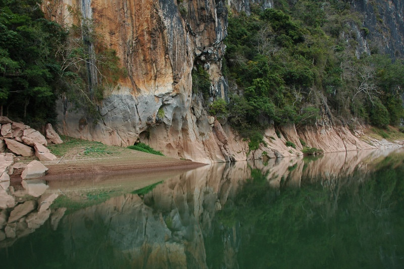 Nam Ou Reflections - Nong Khiaw, Laos