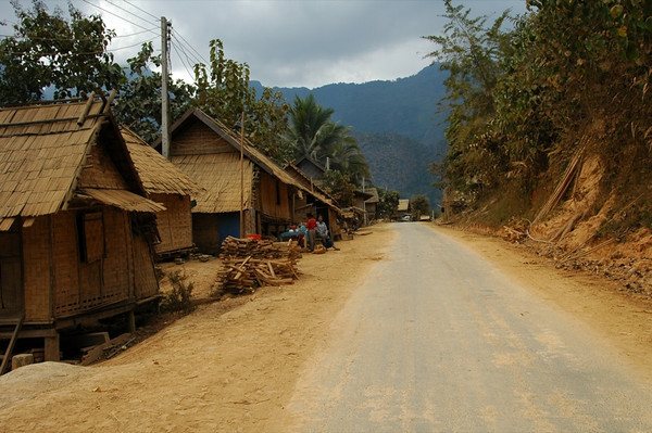 Quiet Village Street - Nong Khiaw, Laos
