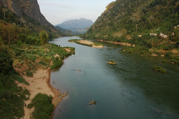 Beautiful Nam Ou River and Mountains - Nong Khiaw, Laos