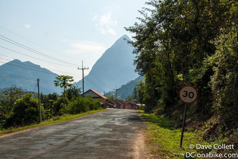 Rural Lao village on the way to Luang Prabang