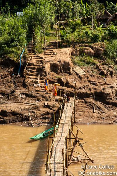 Monks heading to the bridge
