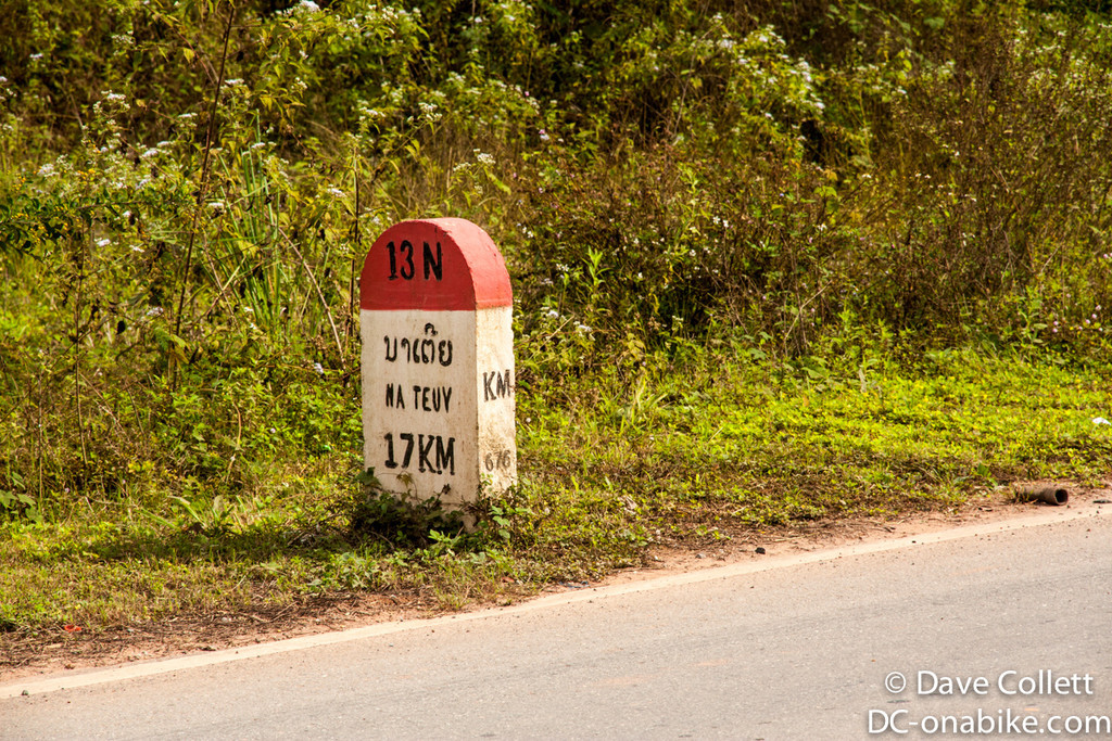 Handy distance markers in Laos