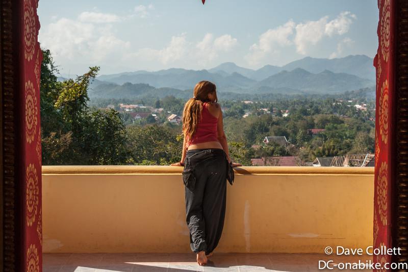 Veronica overlooking Luang Prabang