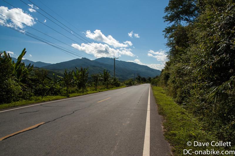 Riding in Laos