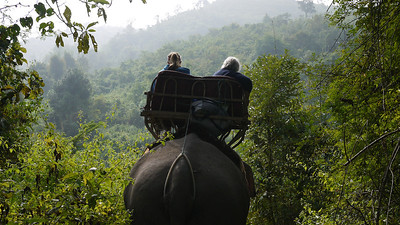 The wide plains and hillsides of Hongsa, Laos.