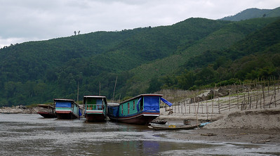 Slow boats and slow days on the Mekong River, Laos.