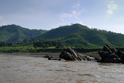 The rusty waters of the Mekong River in Laos.