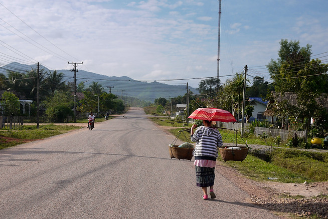 Street scenes from Hongsa, Laos