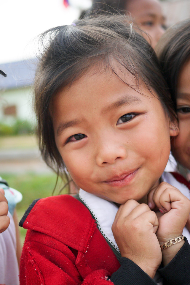 Such a sweet smile from this cutie-pie in rural Laos.