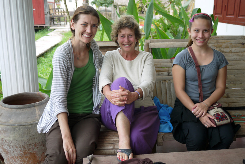 Ana and I enjoyed our time with Monica from the Jumbo Guesthouse in Hongsa, Laos.