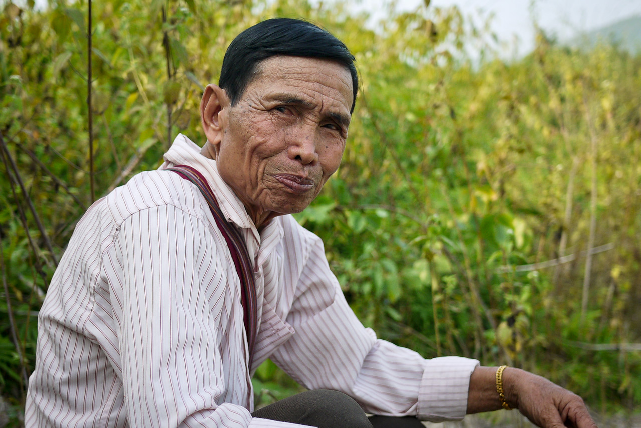 At 73 years old, our guide was more nimble and animated than many half his age! Hongsa, Laos.