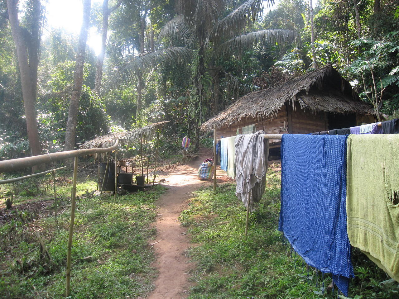 village in the bokeo nature reserve