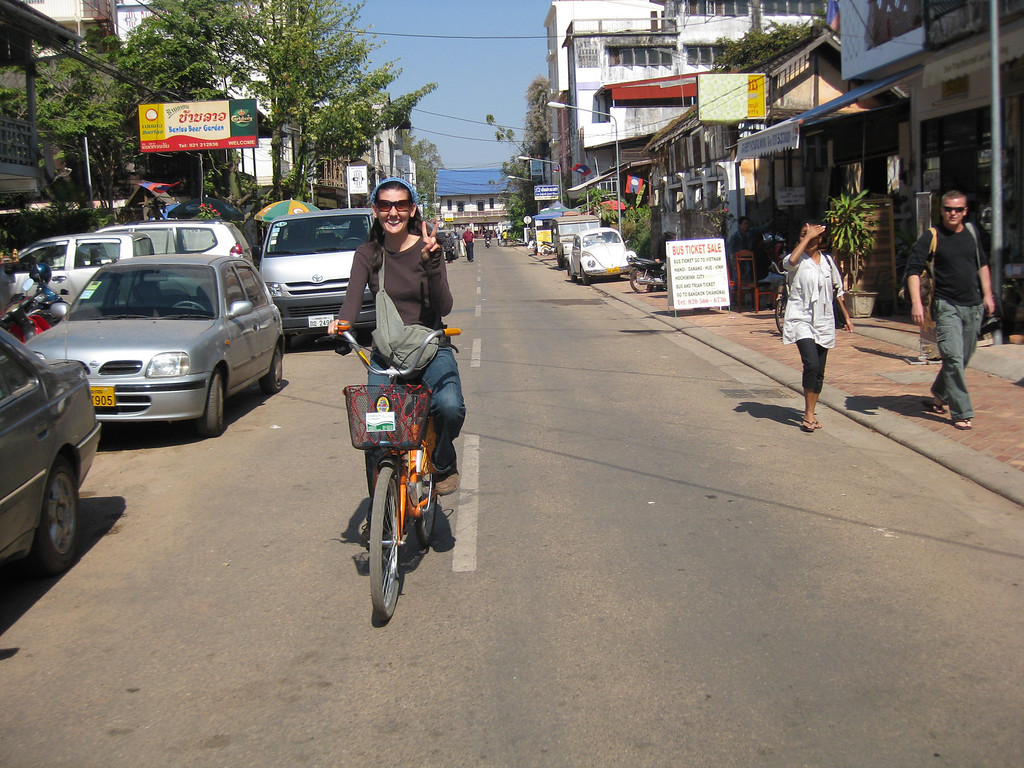 biking around Vientiane