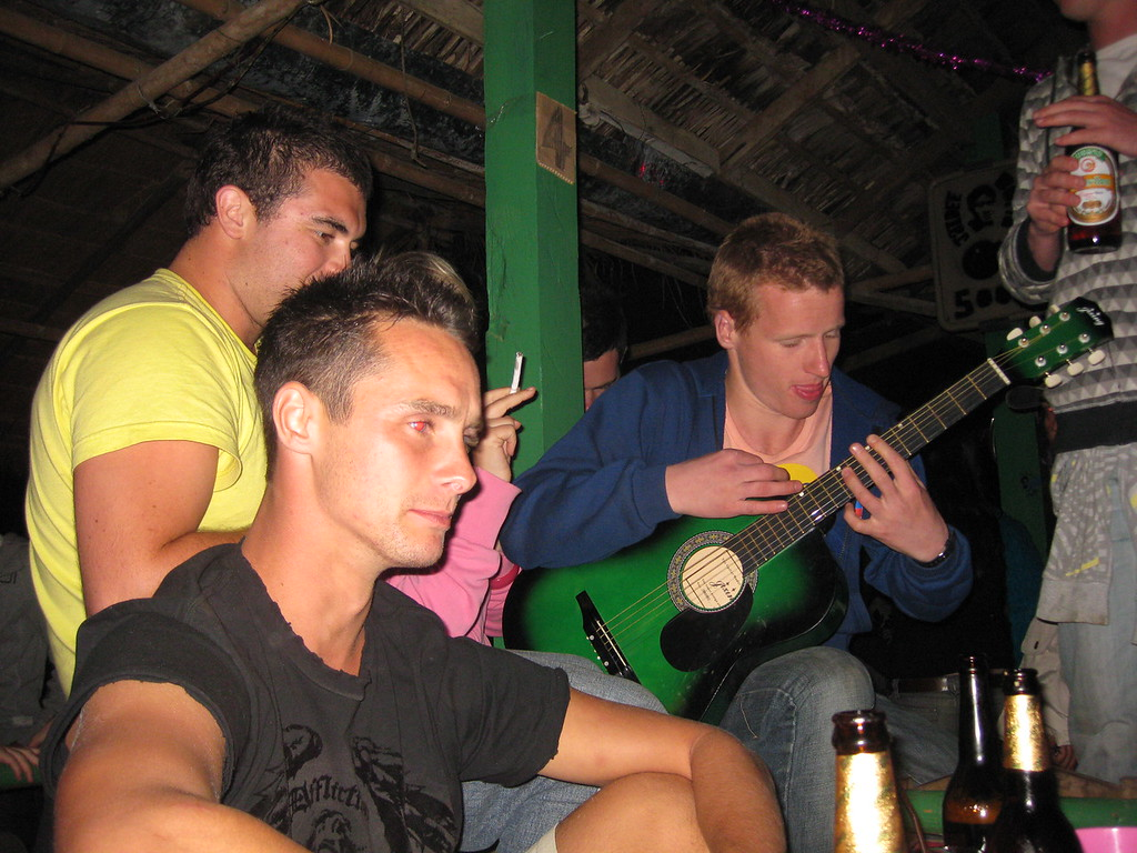 vang vieng with a guitar