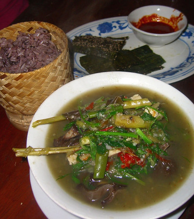 Or Lam and Purple Sticky Rice - Luang Prabang, Laos