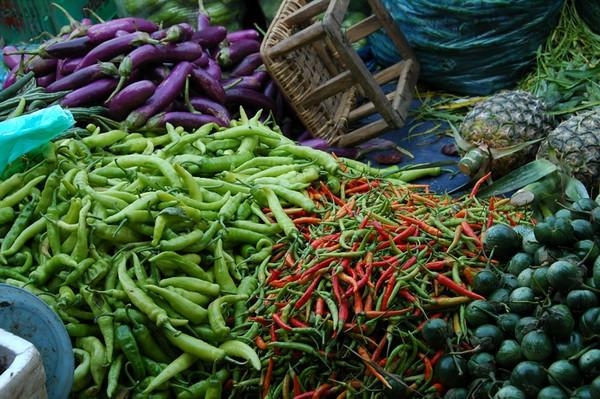 Eggplant and Chilies - Luang Prabang, Laos
