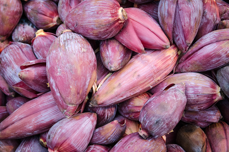 Banana flower, it's good in salad!
