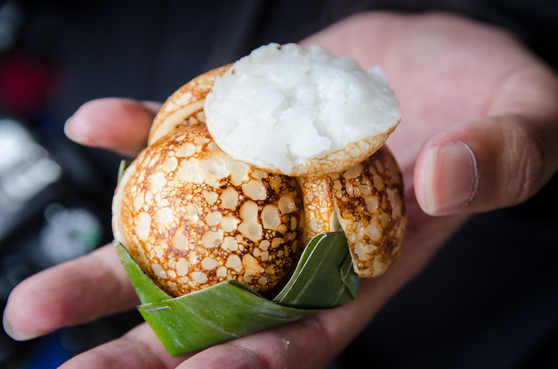 These freid coconut balls were really good!