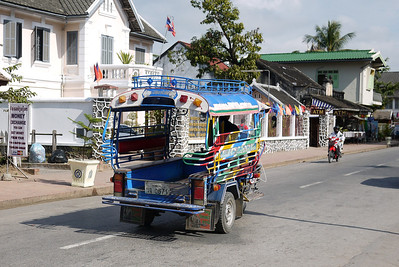 A tuk-tuk on the streets of Luang Prabang, Laos