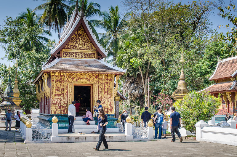 A smaller temple on the grounds of Wat Xieng Thong.