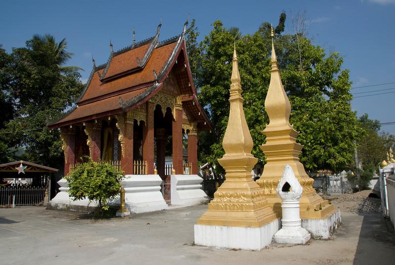 Shot of the temple and stupa at Luang Prang, Laos