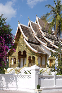 The pretty Royal Palace temple in Luang Prabang, Laos