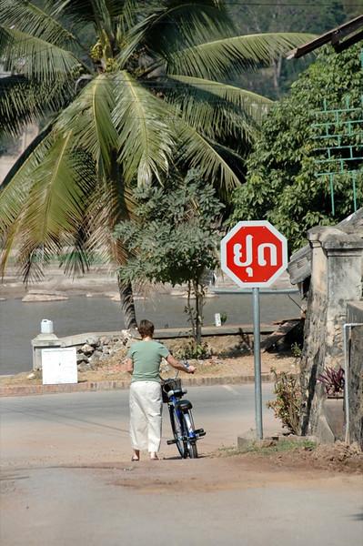 Stop Sign - Luang Prabang, Laos