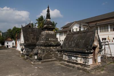 Wat and Stupa at Luang Prang, Laos