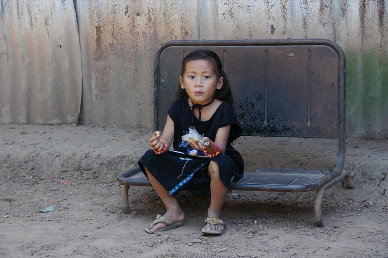 Girl Sitting - Luang Prabang, Laos