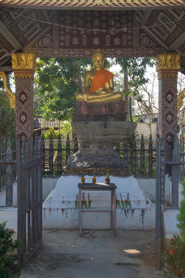 Buddha Statue shrine at Luang Prabang, Laos