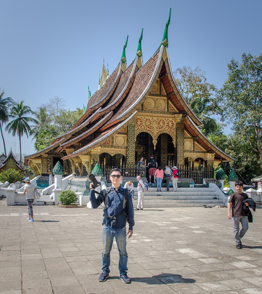 """Wat Xieng Thong (Lao: ວັດຊຽງທອງ; """"Temple of the Golden City"""") is a Buddhist temple (wat), located on the northern tip of the peninsula of Luang Phrabang, Laos. Wat Xieng Thong is one of the most important of Lao monasteries and remains a significant monument to the spirit of religion, royalty and traditional art. There are over twenty structures on the grounds including a sim, shrines, pavilions and residences, in addition to its gardens of various flowers, ornamental shrubs and trees."""
