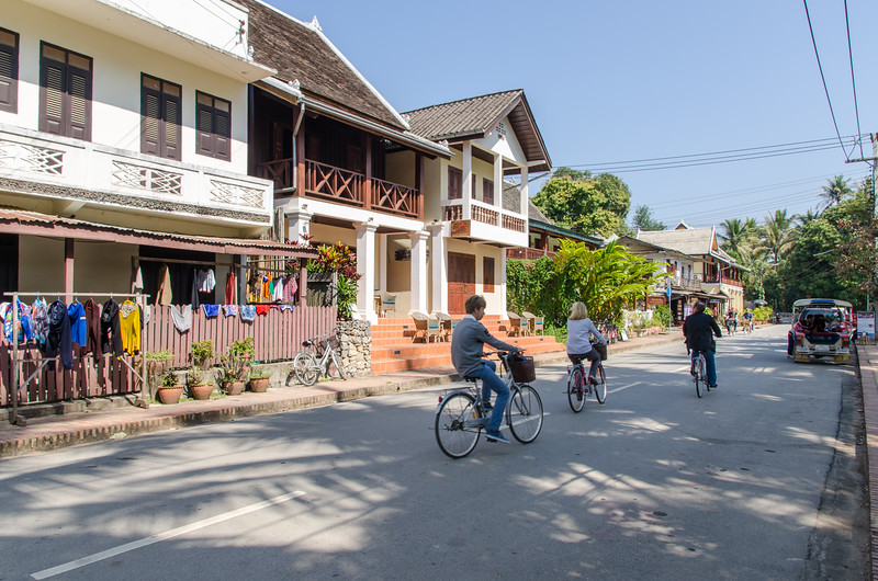 Strolling the streets of Luang Prabang and enjoying the quiet lifestyle.