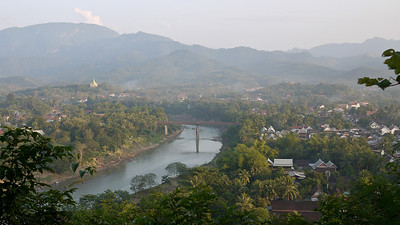 Sunset from the top of Mount Phousi in Luang Prabang, Laos