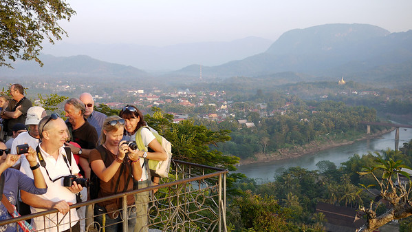 Sunset at Mount Phousi in Luang Prabang, Laos