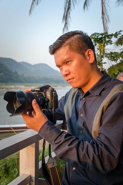 Woot capturing the sunset in Luang Prabang.