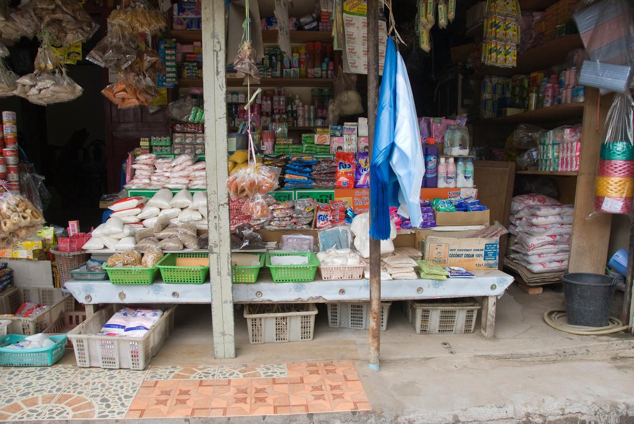 Shot of a store in Luang Prang, Laos