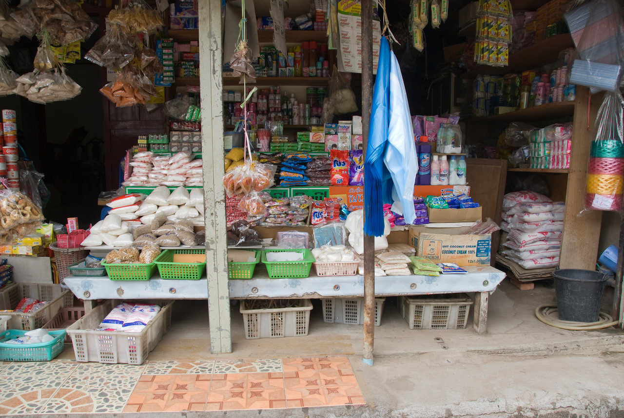 Shot of a store in Luang Prang, Laos